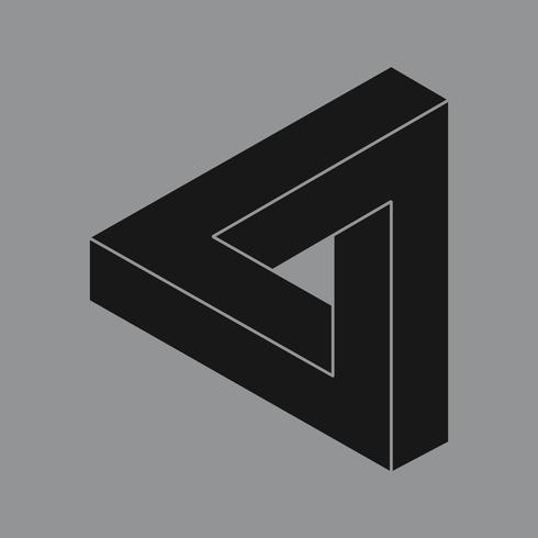 Lineaire illustratie van een driehoek