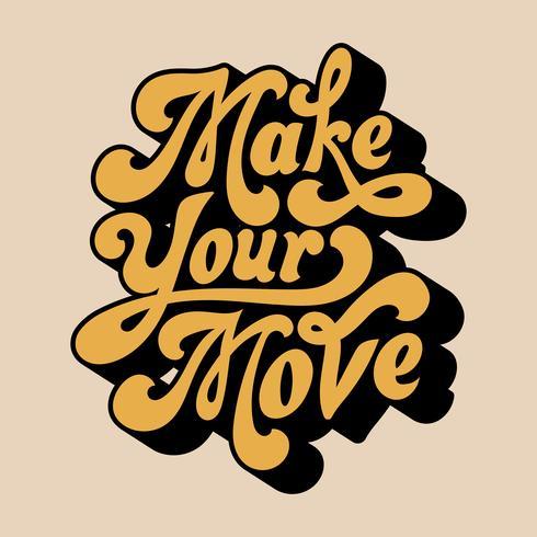 Realiza tu movimiento tipográfico estilo ilustración.