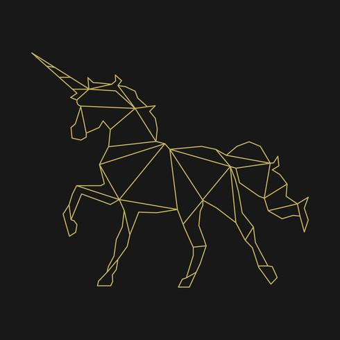 Lineare Darstellung eines Einhorns