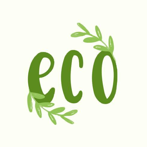 Ordet eko typografi vektor