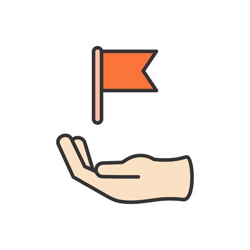 Ilustração, de, negócio, realização, ícone