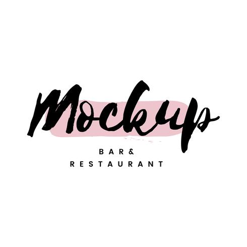Mockup bar and restaurant logo