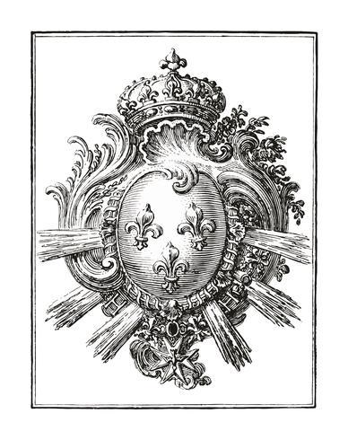 Arm met drie lelies (1785 - 1833) door Jean Bernard (1775-1883). Origineel van het Rijksmuseum. Digitaal verbeterd door rawpixel.