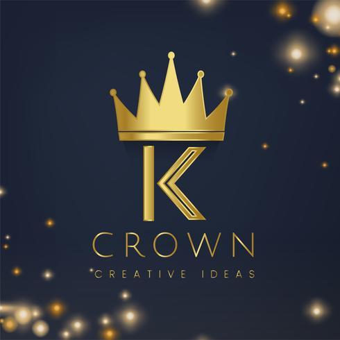 Logotipo da coroa de ouro