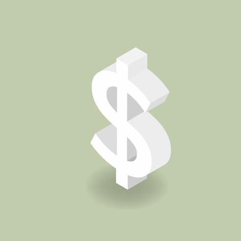 Vektorikone der Dollarzeichenikone