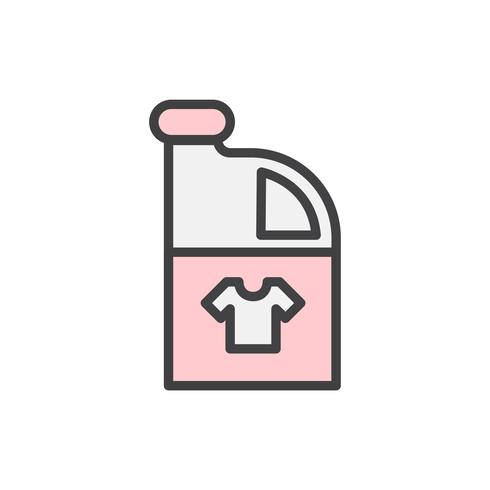 Ilustração de um recipiente de detergente para a roupa