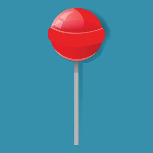Illustration of red lollipop