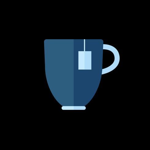 Simples, ilustração, de, um, xícara chá