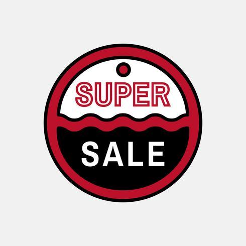 Diseño de la insignia de venta rojo y negro