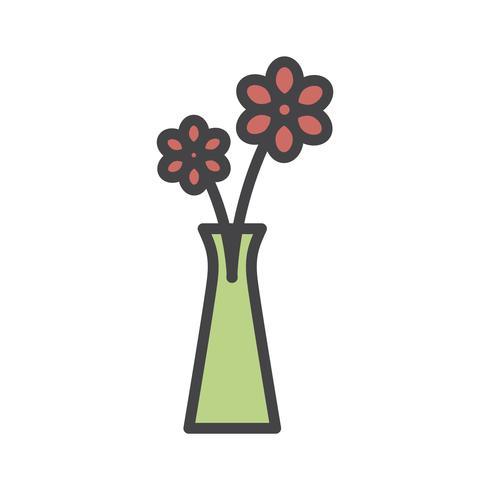 Ilustración de flores en un florero.