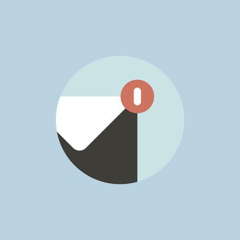 Vektor av ikonen för e-postmeddelande