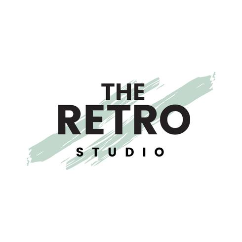 The retro studio logo vector