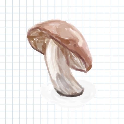 Estilo aquarela vegetal desenhado de mão