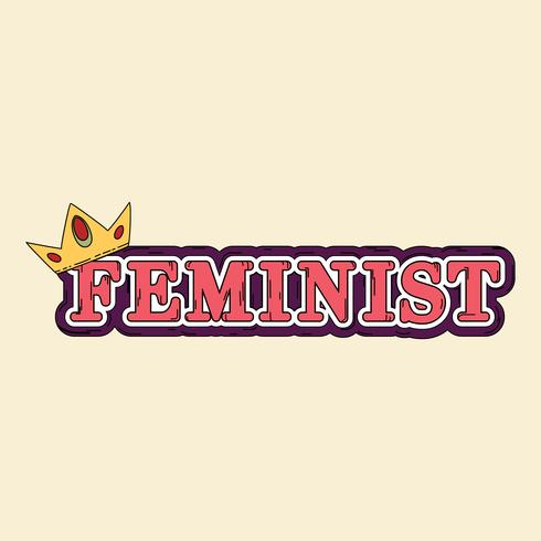 Feminist with a crown vector
