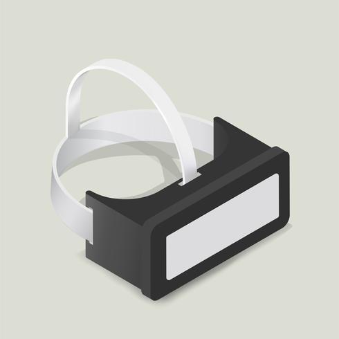 Image vectorielle d'icône de lunettes de réalité virtuelle