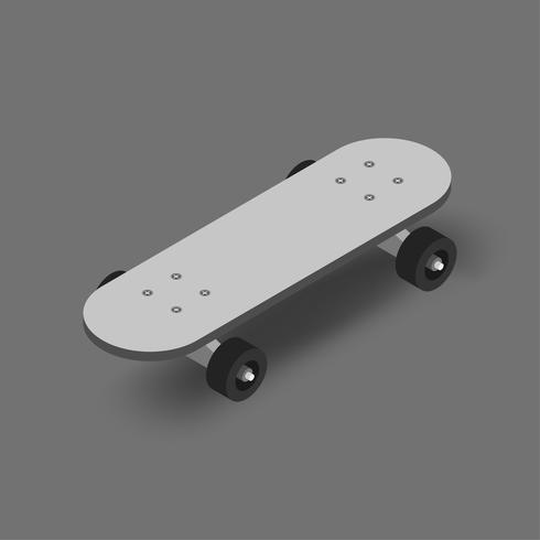 Vector image of skatebaord icon