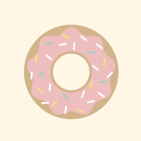 Ilustração de um donut com granulado