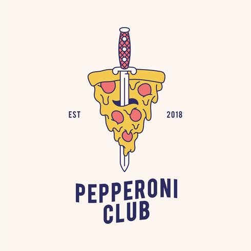 Pepperoni pizza design vektor