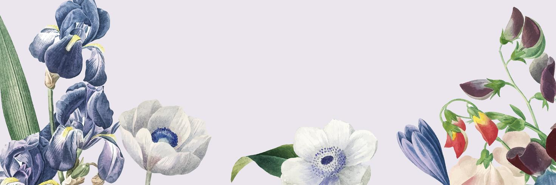 Leerer Blumenfahnenkopienraum