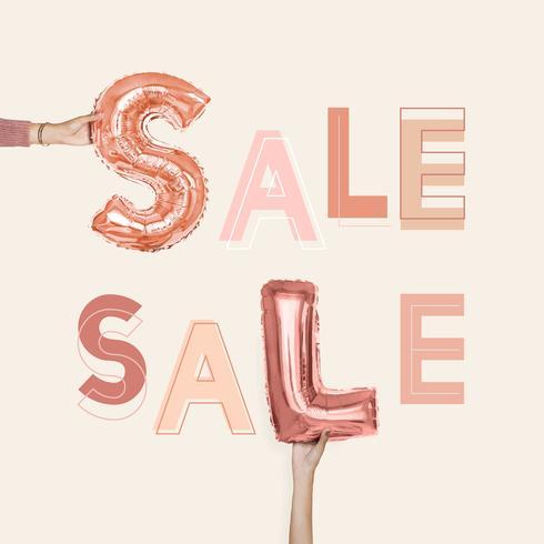 Sale word text typography vector