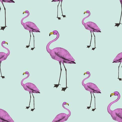 Pink flamingo wallpaper