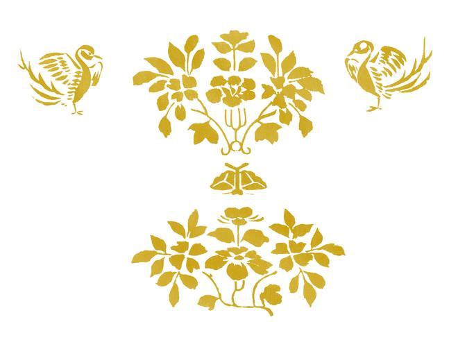 Weinlese-Illustration des japanischen Musters