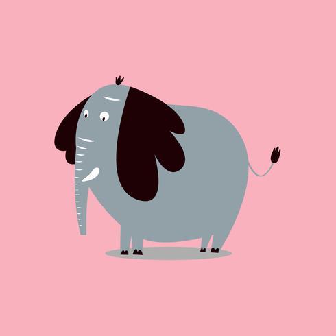 Leuke wilde olifant cartoon illustratie