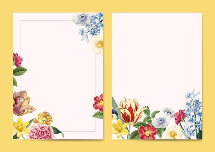 Espaço de cópia de convite floral em branco