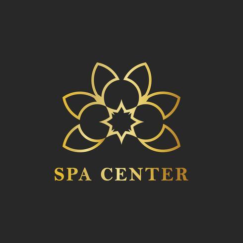 Spa center design logo vector