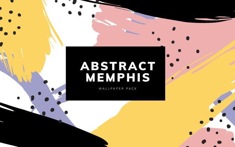 Kleurrijke geometrische Memphis-stijlachtergrond
