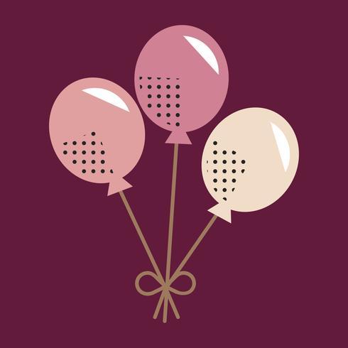 Ballon pictogram viering Concept