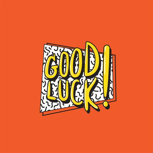 Illustration of good luck word vector