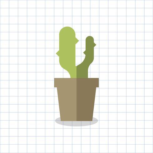 Illustratie van een cactus in een pot
