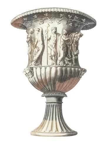 Illustration vintage de vase Médicis