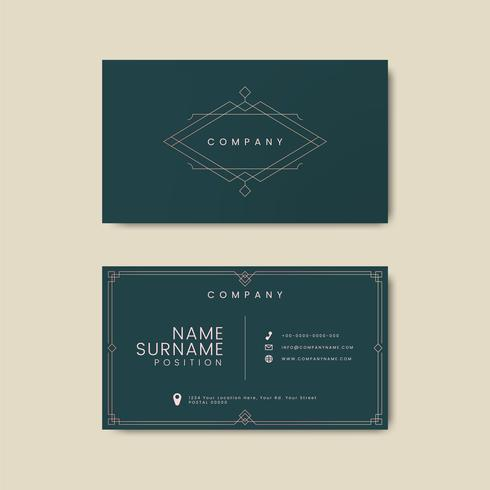 Maqueta de tipografía tarjeta de visita vintage