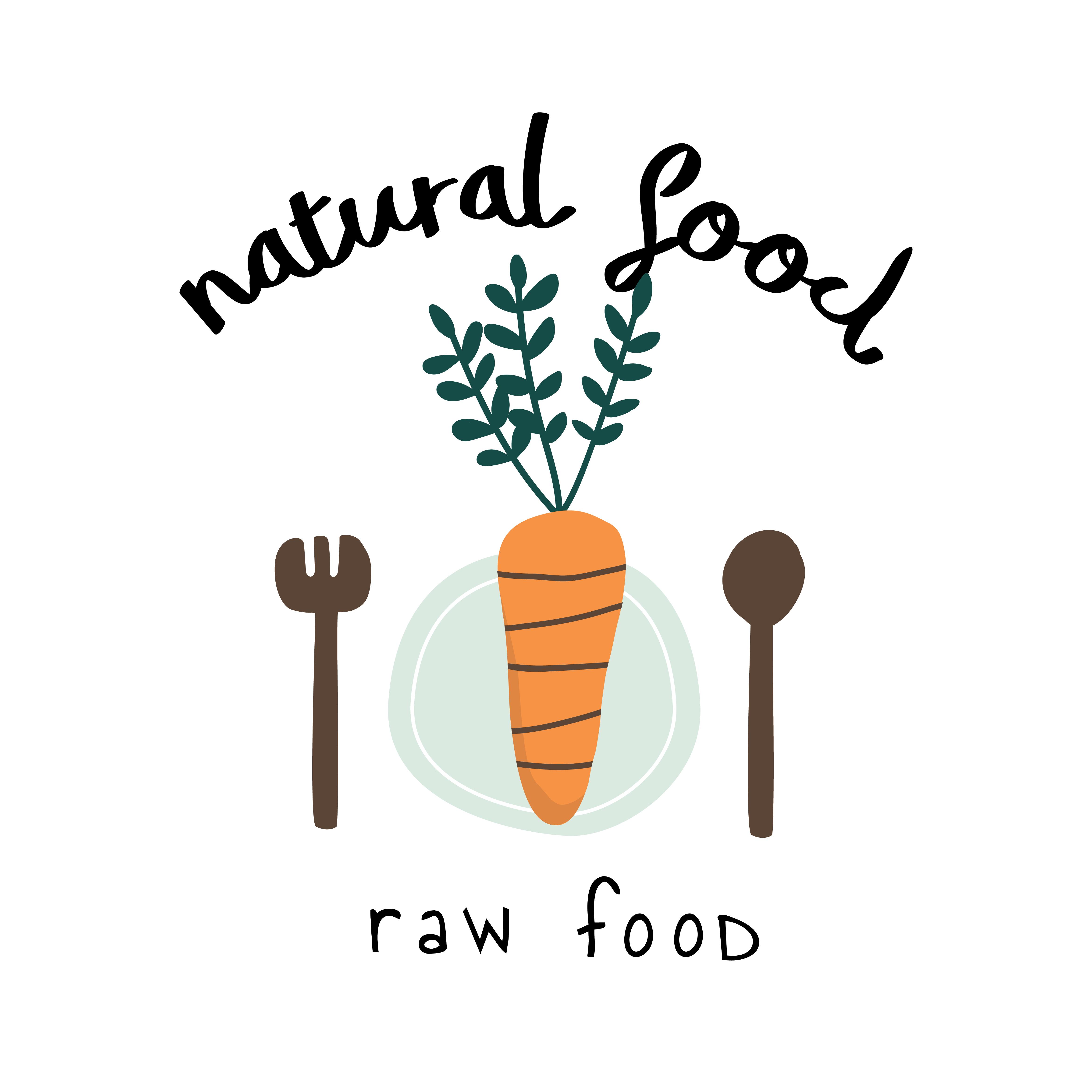 Natural raw food logo vector - Download Free Vectors ...