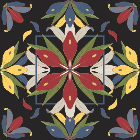 Disegno dell'illustrazione dei fiori dell'annata