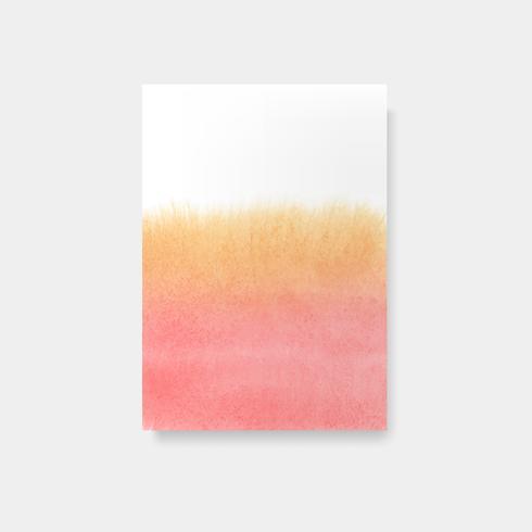 Vecteur de carte style aquarelle orange