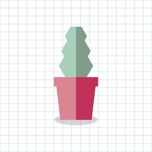 Abbildung eines farbigen Kaktus in einem Topf