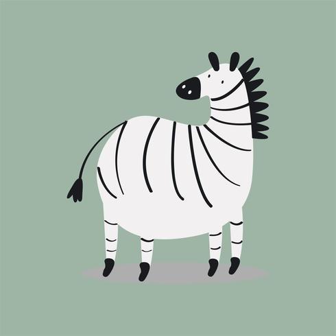 Nette wilde Zebrakarikaturillustration