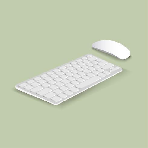 Vector van toetsenbord en muispictogram