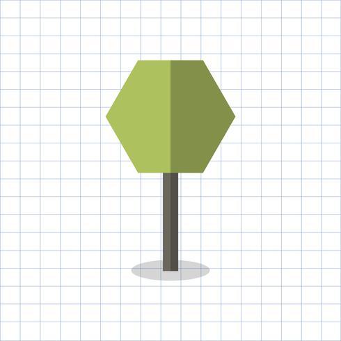 Ilustración de un árbol geométrico.