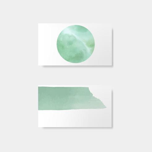 Turkos vattenfärg stil kort vektor