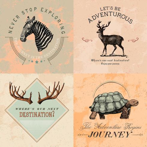 Sammlung Abenteuerlogo-Designvektoren