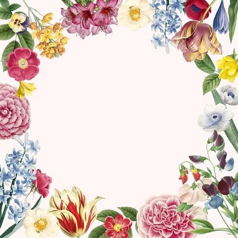Leerer Blumenexemplarplatz
