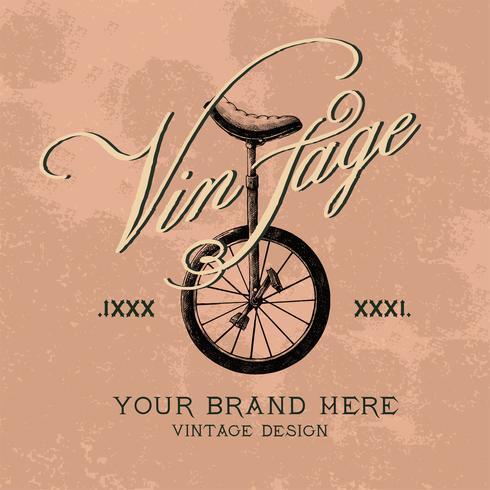 Weinlese-Markenlogo-Designvektor