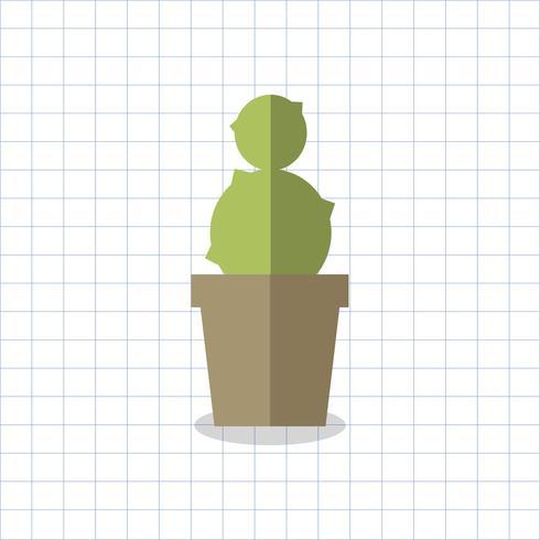 Ilustración de un cactus en una olla