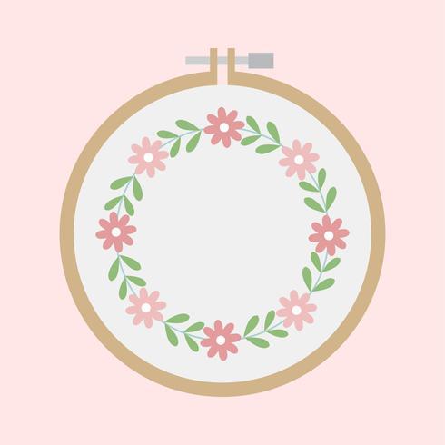 Illustration d'une broderie florale