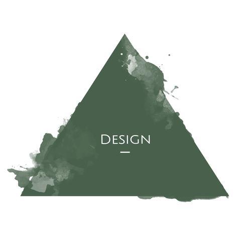 Tillkännagivande triangeln märkes mall design illustration