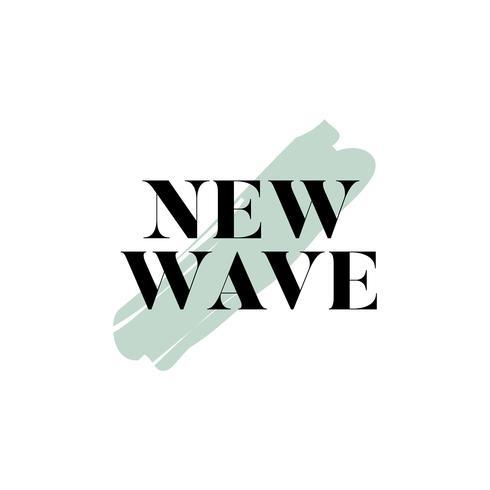 New wave tipografia logo vettoriale